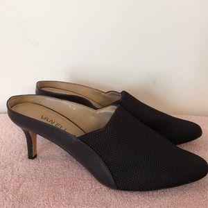 Van Eli size 9 1/2 black heeled mules. EUC